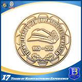 砂を吹き付けられるを用いる金によってめっきされるカスタム記念品の硬貨(Ele-C115)