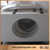 White Carrara White Quartz Vanity Top