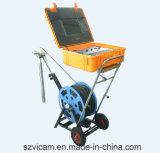 Robô video da câmera da inspeção do poço de água profunda do CCTV de Vicam com cabo elétrico do guincho de 300m a de 500m