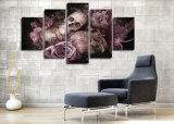 Lona impresa HD Mc-041 del cuadro del cartel de la impresión del cráneo y de la decoración del taller de impresión de la lona de pintura de las rosas