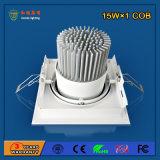 Alumínio 90Lm / W 15W LED Grille Light para iluminação comercial