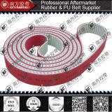 PUおよびゴム製タイミングベルトは赤いゴムと塗った