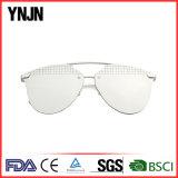 Lunettes de soleil UV400 (YJ-85170) de femmes de mode de lentilles de miroir de constructeur de la Chine