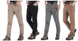 Calças táticas contínuas do algodão da carga das calças do ar livre de IX9 dos homens