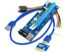 USB3.0 PCI-E expresan el adaptador Ver de la tarjeta de la canalización vertical del suplemento de 1X To16X. 006 4pin