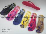 Le cadute di vibrazione delle donne hanno personalizzato il fornitore dei sandali della Cina dei pistoni del PVC (FFLT1017-02)