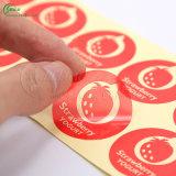 Etiquetas encurraladas redondas do decalque (KG-PT016)