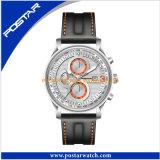 Montre-bracelet suisse de chronographe d'hommes avec la qualité imperméable à l'eau