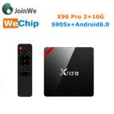 X96 FAVORABLE rectángulo superior determinado elegante de Amlogic S905X del rectángulo del androide TV