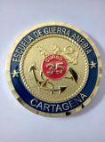 바퀴 국경을%s 가진 주문 3D 금 선물 동전 또는 기념품 동전