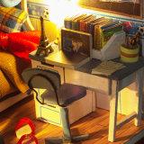 Миниая дом куклы кровати нары вручную