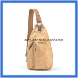 Personalizado nuevo material de DuPont papel al aire libre deporte mochila bolsa, promoción Tyvek papel solo hombro Messenger Bag con cinturón ajustable
