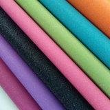 0.9mm Stärken-Funkeln PU-synthetisches Leder für Dekoration (HS-M027)