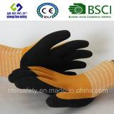 перчатки нейлона 15g/Spandex замороженные латексом, перчатки работы безопасности отделки Sandy (SL-RS303)