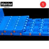 Correia transportadora modular plástica curvada superior lisa resistente ao calor de POM