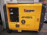 Generador portable eléctrico silencioso diesel fresco del aire de Kp9500dgfn 7.5kw