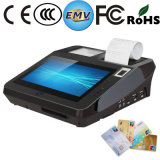 指紋読取装置およびプリンターが付いている現代人間の特徴をもつターミナル現金POS機械