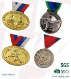Medaglie di oro in bianco di tennis dello specchio delle medaglie su ordinazione poco costose di effetto