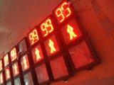 Zweifarbige Fußgängerampel mit Count-down-Timer