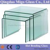 Vidrio curvado caliente, vidrio Tempered curvado, vidrio endurecido doblado