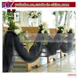 Partido Suply Negro Tul 65yd decoración de la boda (W1014)