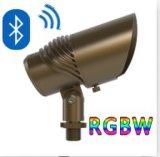RGBW는 잔디 잔디밭 정원 정착물 힘을%s 조경 LED Uplight와 조정가능한 광속 각을 방수 처리한다