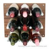 Spine di alluminio fissate al muro della cremagliera del vino della bottiglia della visualizzazione di memoria