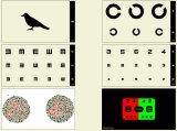 Equipamento Ophthalmic, verificador visual do LCD, carta da visão do LCD