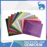 Vinil coreano da transferência térmica do Glitter da qualidade para a matéria têxtil