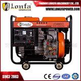 gerador de potência Diesel refrigerado a ar do começo 5kVA/5kw elétrico portátil