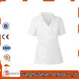 L'infirmière uniforme blanche de tissu de bâti d'hôpital de Comforable frottent des jeux