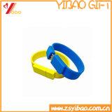 Профессиональный оптовый цветастый USB Wristband браслета силикона