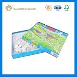 Rectángulo de empaquetado de papel del rompecabezas cuadrado por encargo (para el rompecabezas de los niños)