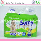 Tecido 100% brandamente descartável do bebê do algodão de Somy M12 para África