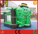 Grüner Frosch-aufblasbarer Prahler-Frosch-aufblasbarer springender Bett-Prahler