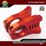 Kundenspezifische Fahrrad-Stamm CNC-Aluminiumteile rote anodisierencnc-Prägeteile