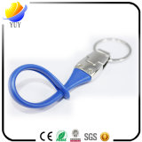 Anel chave do metal com as cintas da borracha de silicone