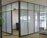 Cloisons de séparation en aluminium insonorisées de bâti de partition en verre de bureau