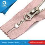 Zipper suíço de separação em dois sentidos do metal do ouro do Zipper