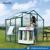 Grünes Aluminiumhaus für Blumen