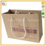Sac de papier de marque célèbre d'impression et sac à provisions