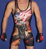 Camiseta de lucha modificada para requisitos particulares alta calidad de la sublimación para los hombres