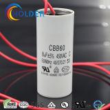 De Condensator van de Airconditioner (CBB60 805J/450VAC) met Spelden