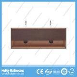 Шкаф ванной комнаты высокого качества установленный стеной с бортовой тщетой и 2 тазиками (BF372D)