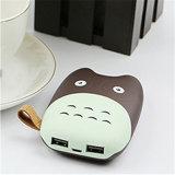 Mini Totoro chargeur portatif de téléphone mobile de côté de pouvoir de forme de 6000mAh