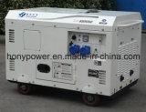 générateur diesel silencieux du cylindre 5kw5kVA simple refroidi par air portatif