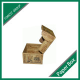 Kundenspezifischer gewölbter verpackenkasten mit hölzernem Beschaffenheits-Drucken