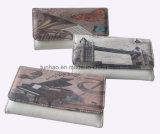 Славное печатание цифров/плоско бумажник PU кожаный для женщин/портмона