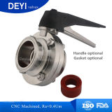valvola a farfalla igienica sanitaria dell'acciaio inossidabile 304/316L (DY-BV1007)