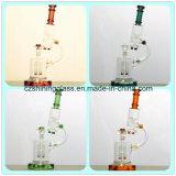 Farben des wundervoller Entwurfs-Glaswasser-Rohr-6 in der ausgezeichnete Bedingung-Glaspfeife